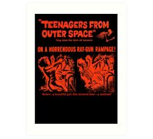 Teenagers from outer space ray-gun poster Art Print