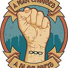 A Man Chooses, A Slave Obeys Sticker by Adho1982