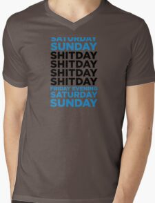 The shit day in a week! Mens V-Neck T-Shirt