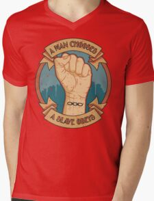 A Man Chooses, A Slave Obeys  - Bioshock Mens V-Neck T-Shirt