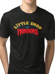 Little horrors shop title Tri-blend T-Shirt
