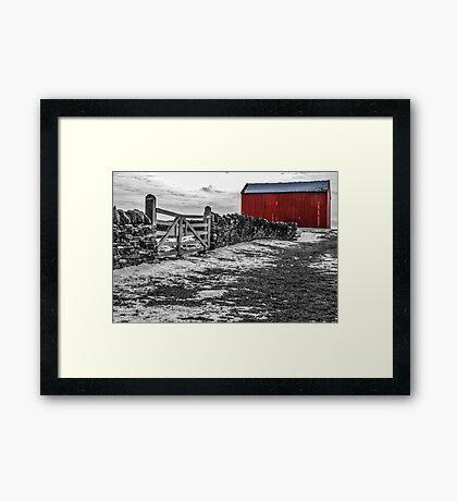 Shakertown Red Barn - SC Framed Print