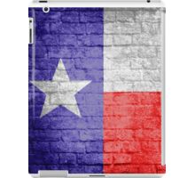 Texas flag grunge brick wall iPad Case/Skin