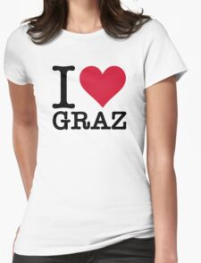I Love Graz Womens Fitted T-Shirt