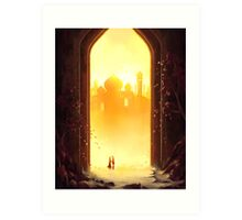 Reunion at the Gates of Heaven Art Print