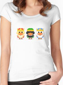 The Three Wise Ducklings Women's Fitted Scoop T-Shirt