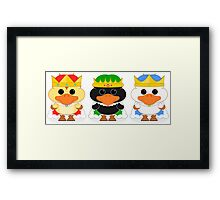 The Three Wise Ducklings Framed Print