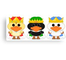 The Three Wise Ducklings Canvas Print