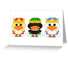 The Three Wise Ducklings Greeting Card