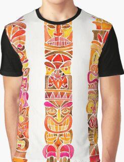 Tiki Totem – Fiery Palette Graphic T-Shirt