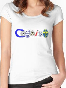 Coexist -  2nd amendment Women's Fitted Scoop T-Shirt