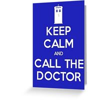Doctor Who: Keep Calm Greeting Card