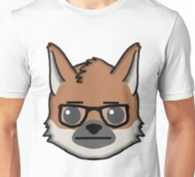 Maned Wolf With Glasses Straight Face Emoji Unisex T-Shirt