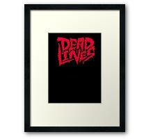 Dead lines red blood Framed Print