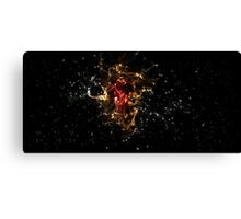 SPACE - red orange Canvas Print