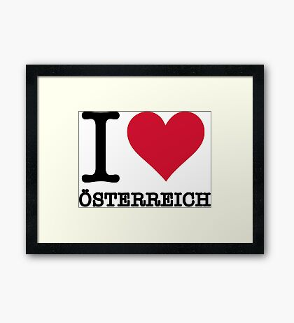 I love Austria Framed Print