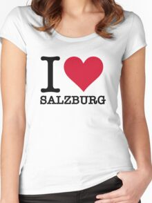 I Love Salzburg Women's Fitted Scoop T-Shirt