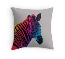 Zebra Head 3H Throw Pillow