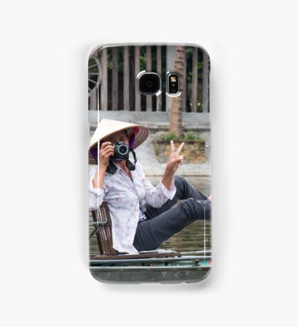 Vietnamese Photographer Boat Lady  Samsung Galaxy Case/Skin
