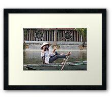 Vietnamese Photographer Boat Lady  Framed Print