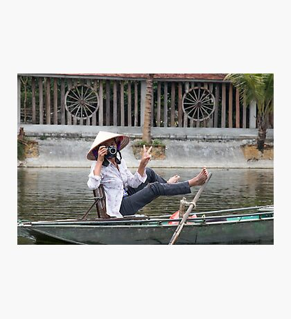 Vietnamese Photographer Boat Lady  Photographic Print