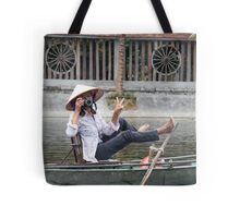 Vietnamese Photographer Boat Lady  Tote Bag