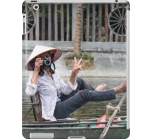 Vietnamese Photographer Boat Lady  iPad Case/Skin