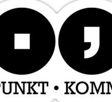 Dot dot comma Clear Sticker