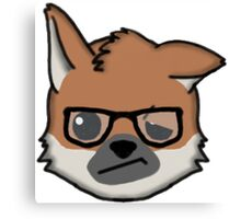 Maned Wolf With Glasses Face Emoji Canvas Print