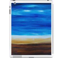 Feeling Beachy, abstract landscape iPad Case/Skin