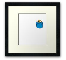Just Jake in the Pocket Framed Print