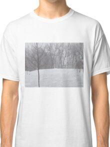 Snow landscape trees Classic T-Shirt