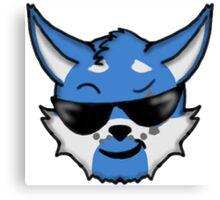 Wolf Furry Cool Face Emoji Canvas Print