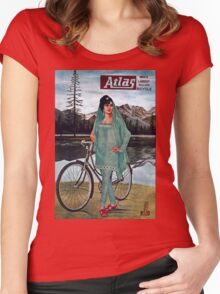 Vintage poster - Atlas Bicycle Women's Fitted Scoop T-Shirt