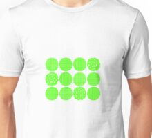 Lime green circles Unisex T-Shirt