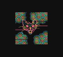 Neon Cat and Mandalas Unisex T-Shirt