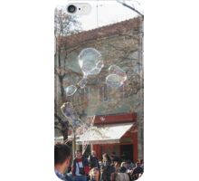 bubble maker entertaining kids on the street iPhone Case/Skin