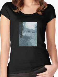 Winter Face Image Women's Fitted Scoop T-Shirt