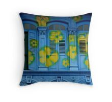 Blooming windows Throw Pillow