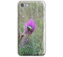 mountain's violet flower and a green bug  iPhone Case/Skin