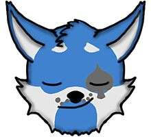 Wolf Furry Smirking Face Emoji Photographic Print