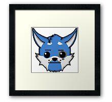 Wolf Furry Straight Face Emoji Framed Print