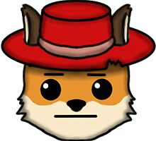 Fox Furry With Hat Straight Face Emoji by Lugia2009