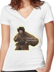 The Office Belsnickel Women's Fitted V-Neck T-Shirt