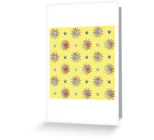 Colorful sun and stars design Greeting Card