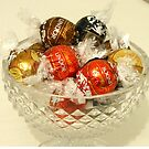 Swiss Chocolates in Crystal Bowl by BlueMoonRose