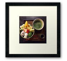 Anmitsu Japanese Dessert Framed Print