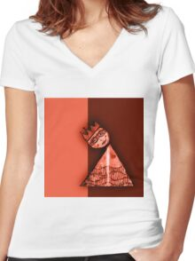 Paper Doll Redux: Royalty II Women's Fitted V-Neck T-Shirt