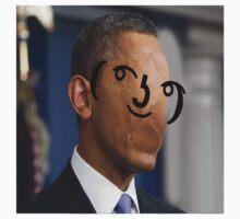 Lenny Face Obama Photoshop One Piece - Short Sleeve