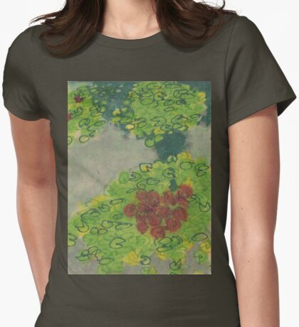 lily pond Womens Fitted T-Shirt